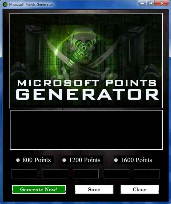 FREE MICROSOFT POINTS CODES