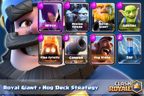 Deck Royal Giant Hog Rider Arena 7 8 Clash Royale