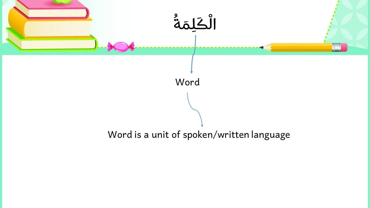 Kinds of Words in Arabic