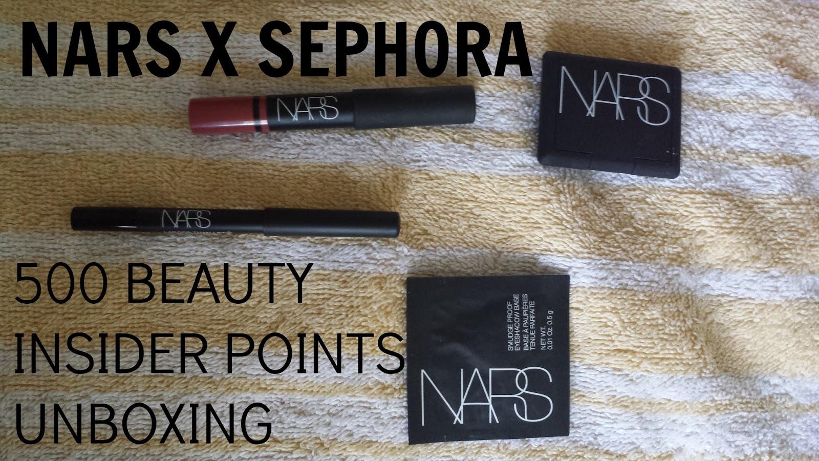 Unboxing NARS x Sephora 500 Beauty Insider Points Perk
