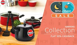 Hawkins Cookwares – Flat 50% Extra Cashback in Paytm Wallet (Valid till 31st July'15 : 10 AM)