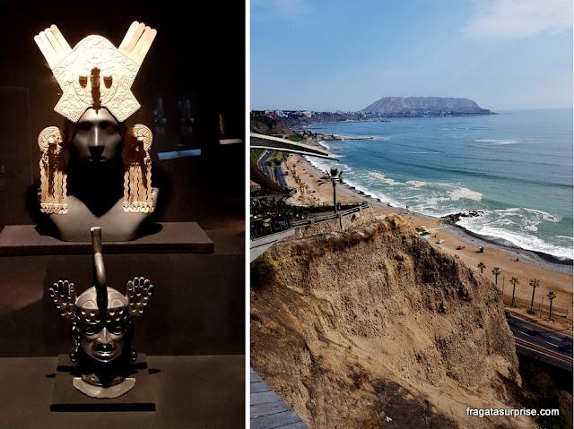 Lima: peças pré-colombianas no Museu Larco e as falésias de Miraflores