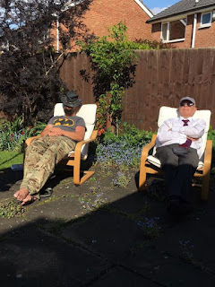 A sunshine-induced snooze with my Dad