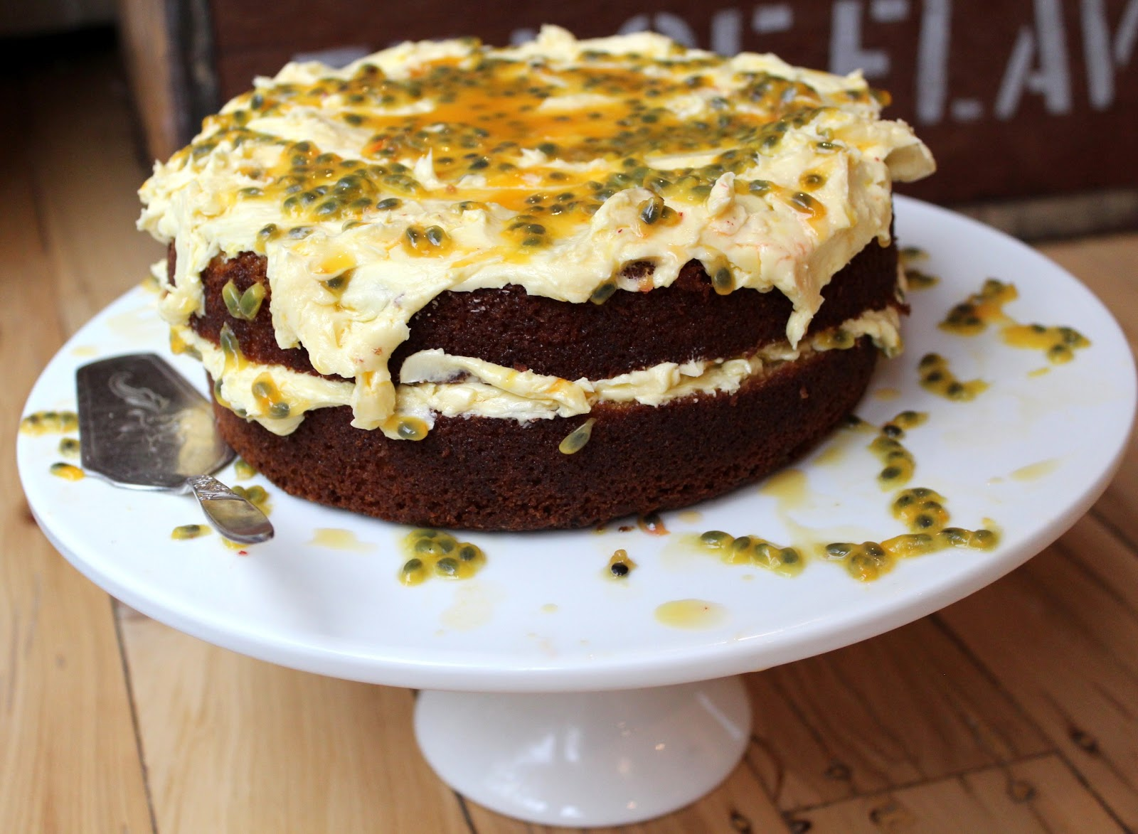 Easy Cake No Icing: Coconut Cake With Passionfruit Butter Frosting