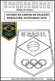 Desenho do escudo da seleção brasileira olimpíadas