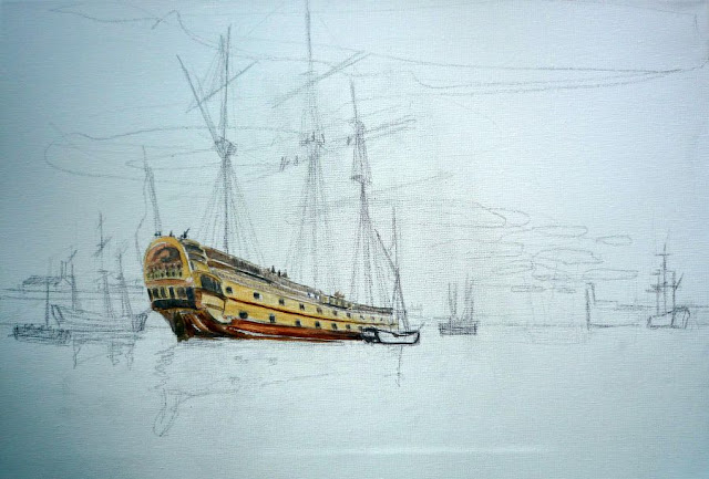 Pintura al óleo del Glorioso en la Habana 1