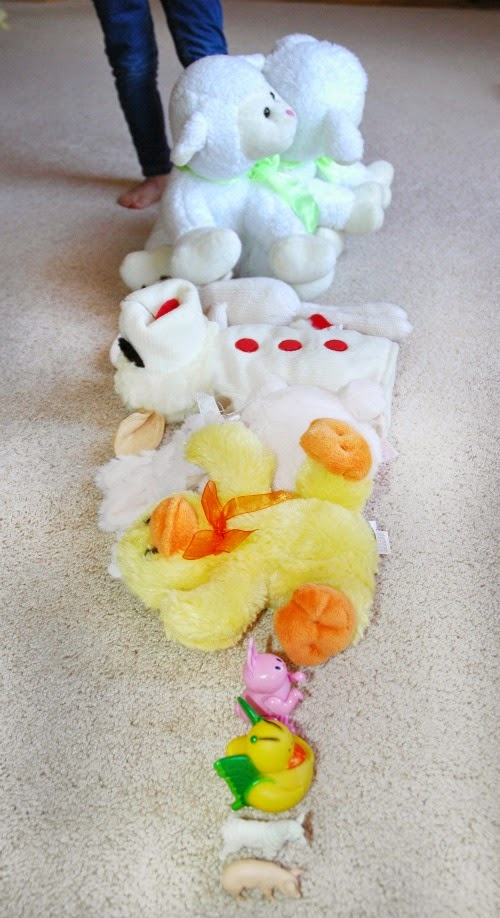 Easter math activity for preschoolers