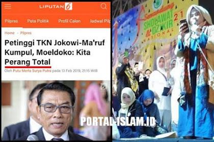 """Tantangan """"PERANG TOTAL"""" Moeldoko Baru Dibalas DO'A Neno Warisman Sudah Kocar-Kacir"""