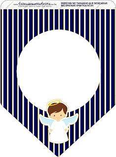 Angelito Moreno en Azul: Imprimibles Gratis para Primera Comunión.