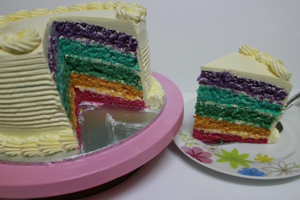 Rainbow Cake Recipe Italian: .: New Product : Italian Rainbow Cake