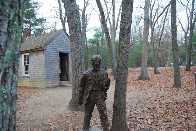 Thoreau's cabin in Walden