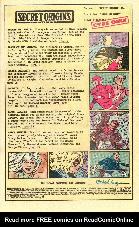 Read online Secret Origins (1986) comic -  Issue #50 - 3