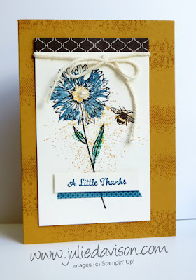 Stampin' Up! Touches of Texture Card -- make & take #stampinup www.juliedavison.com