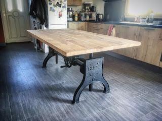 Vitadeco Table Bois Metal Design Industriel 2017