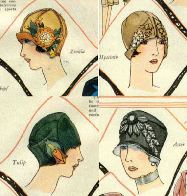 The Vintage Pattern Files: Free 1920's Sewing Patterns - Cloche Hats