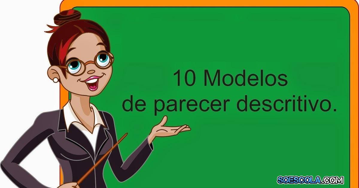 Fabuloso Parecer Descritivo - Modelos prontos — SÓ ESCOLA FU33
