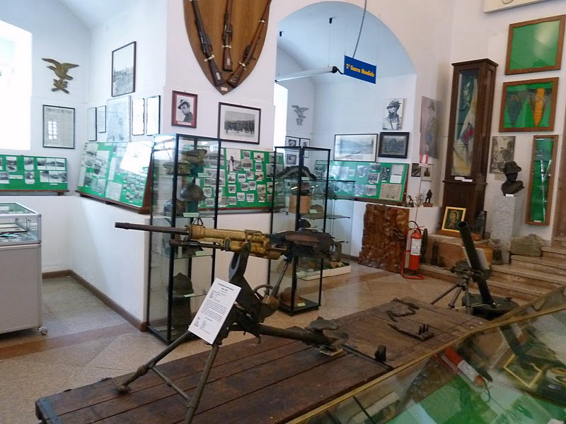 View inside the Storico Delle Truppe Alpine museum, Trento, Italy