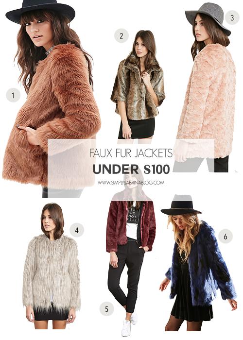 WEDNESDAY WISHLIST: Faux Fur Jackets