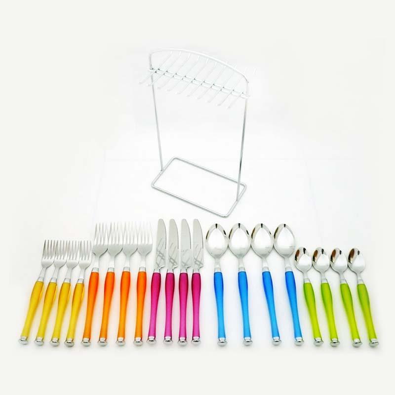 OX-7100 20Pcs Lolipop Cutlery Set Oxone - Sendok, Garpu & Pisau