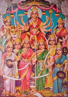 Nine Goddess Worship Navratri Festival