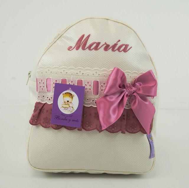 bolsa lencera beige y rosa empolvado