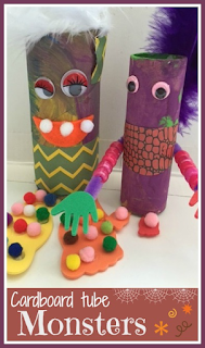How to make cardboard tube monsters