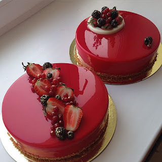 Strawberry Mirror Cake