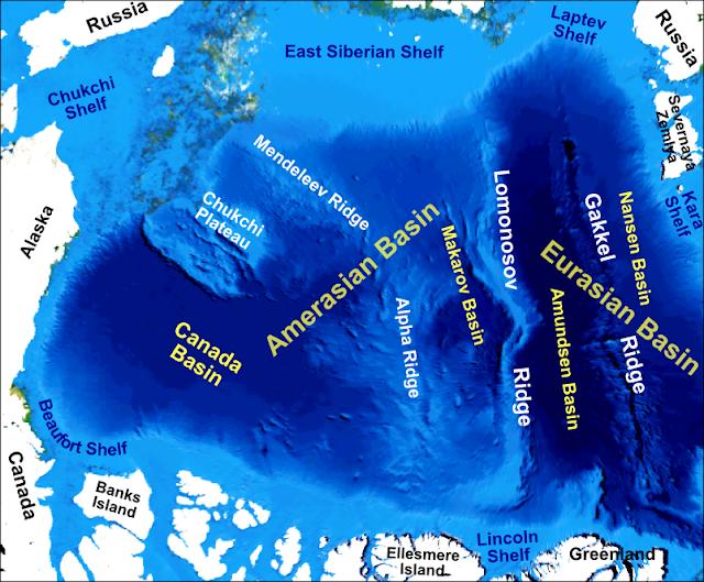 arctic ocean topography