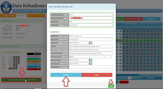 Cara Mengisi Absensi Online pada SIM Kehadiran Guru