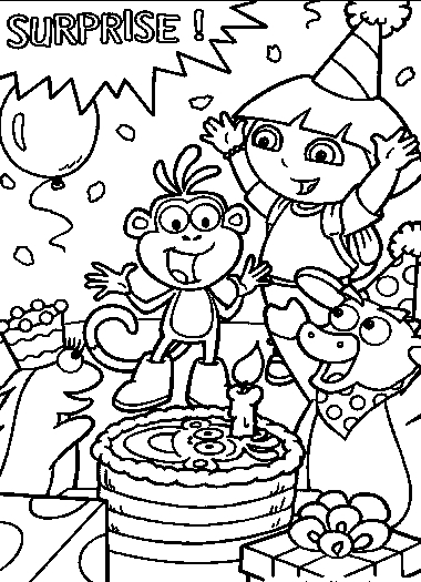 free coloring pages for dora - photo#36
