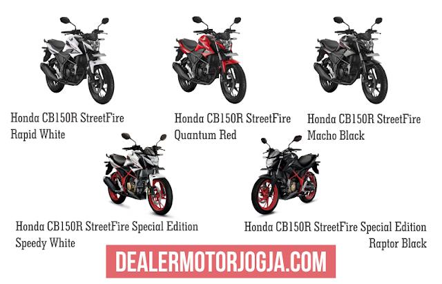 Pilihan Warna Honda CB150R StreetFire