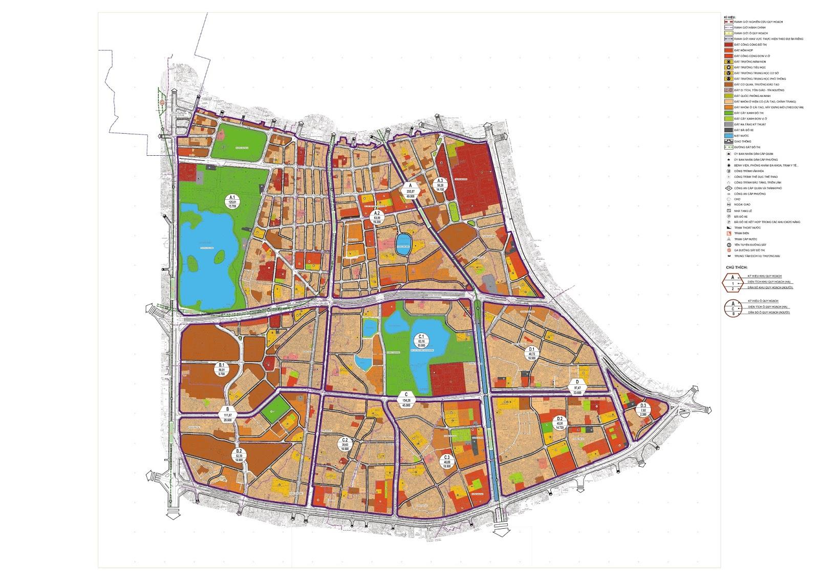 Bản đồ quy hoạch phân khu đô thị H1-4