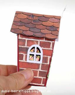 Buntglasfenster in einer DIY Kirche mit haus-verpackung-fur-ferrero-rocher-mit-stampin-up-framelits-zu-hause