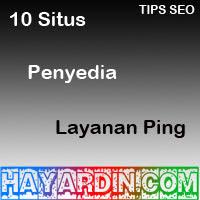 Situs Penyedia Layanan Ping Untuk Blog