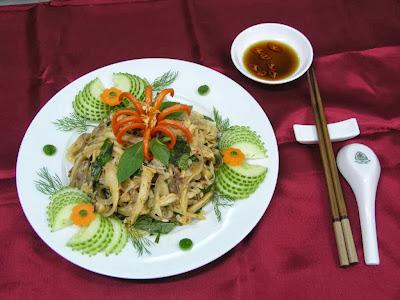 Món ăn ngon: Nghệ thuật trang trí đĩa nộm