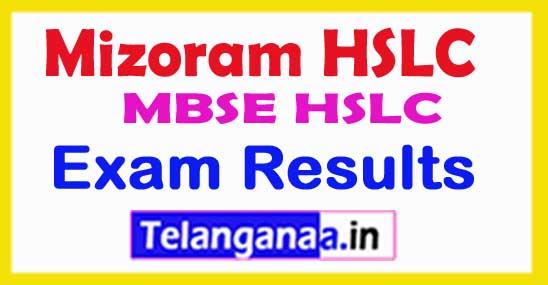 MBSE HSLC Mizoram HSLC Exam Results 2018