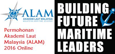 Permohonan Program Diploma Akademi Laut Malaysia (ALAM) 2016 Online