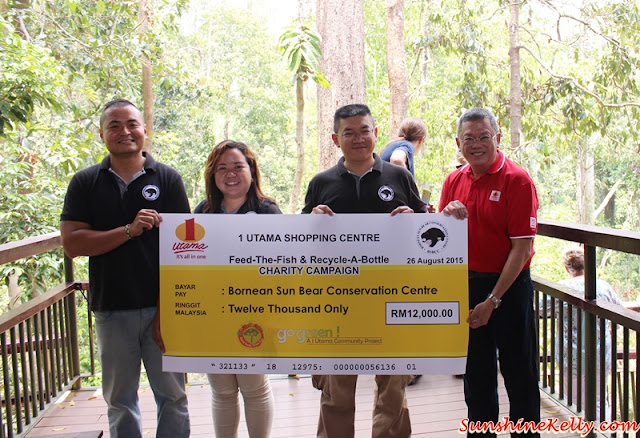 1 utama, Feed The Fish, Go Green Campaign, Bornean Sun Bear Conservation Centre, sandakan, kampung sim sim, Orang Utan Rehabilitation Centre,