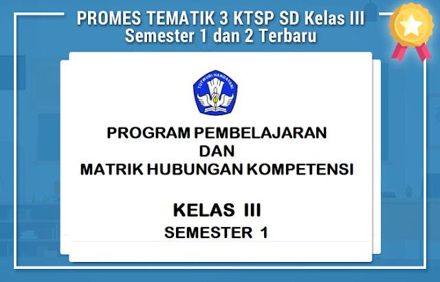 PROMES TEMATIK 3 KTSP SD Kelas III Semester 1 dan 2 Terbaru
