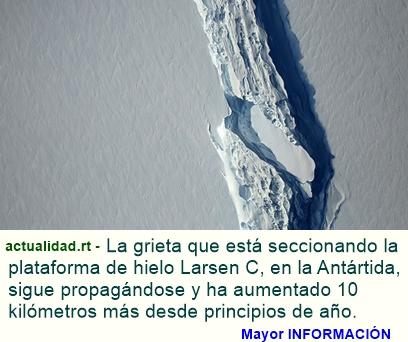 La grieta que generará un gigantesco iceberg en la Antártida continúa creciendo (FOTOS)