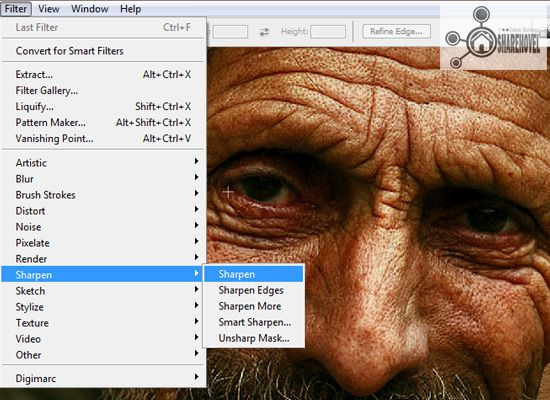 filter sharpen sharpen - tutorial cara membuat efek smudge painting di photoshop