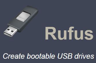 Rufus USB bootable