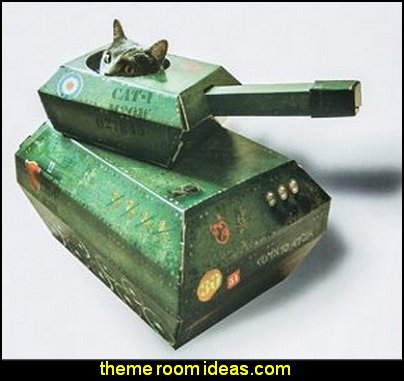 Tank house for cats