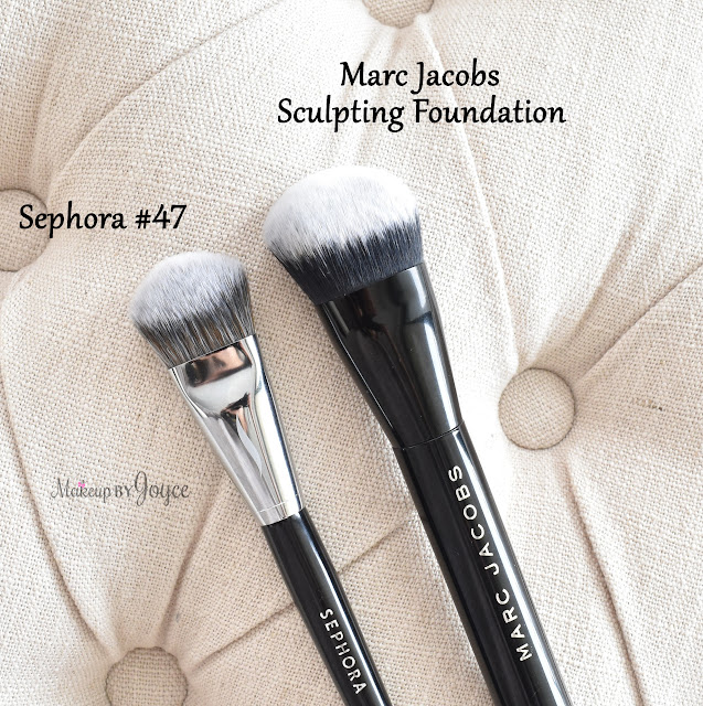 Sephora #47 Brush Marc Jacobs Sculpting Foundation Dupe Review