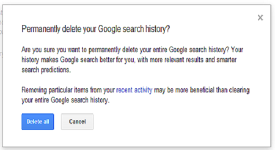 how to clear all your history