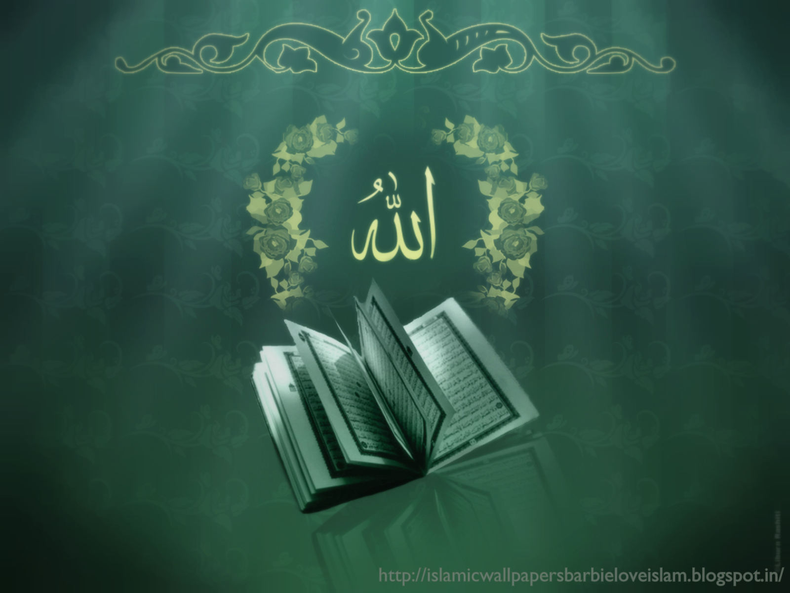 Islamic Wallpapers Barbie Loveislam Green Allah Swt And