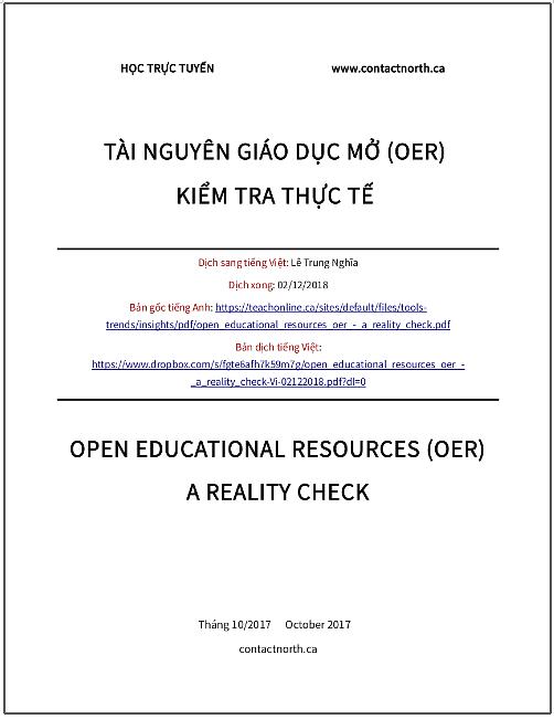 'Tài nguyên Giáo dục Mở - Kiểm tra thực tế' - bản dịch sang tiếng Việt
