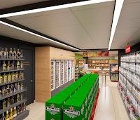 Дизайн магазина супермаркета продуктовый Брусника вкусника Екатеринбург Dulisov design студия интерьер