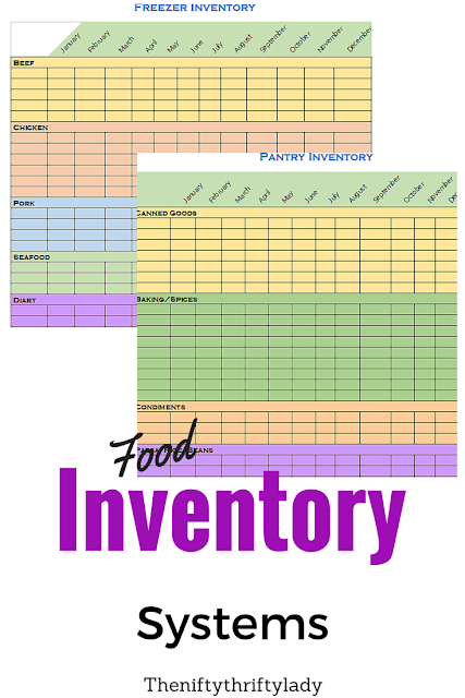 Free Printable Freezer ad Pantry inventory sheets