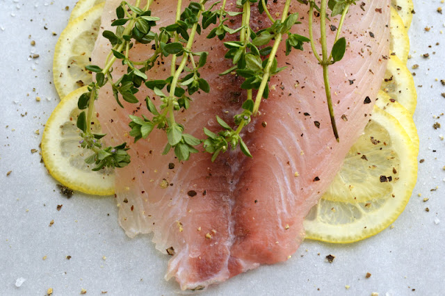 Tilapia with lemons and thyme